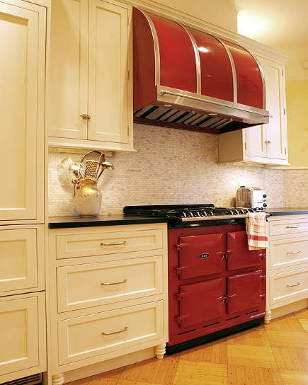Claret Red Aga 6 4 Range With Matching Modernaire Hood In