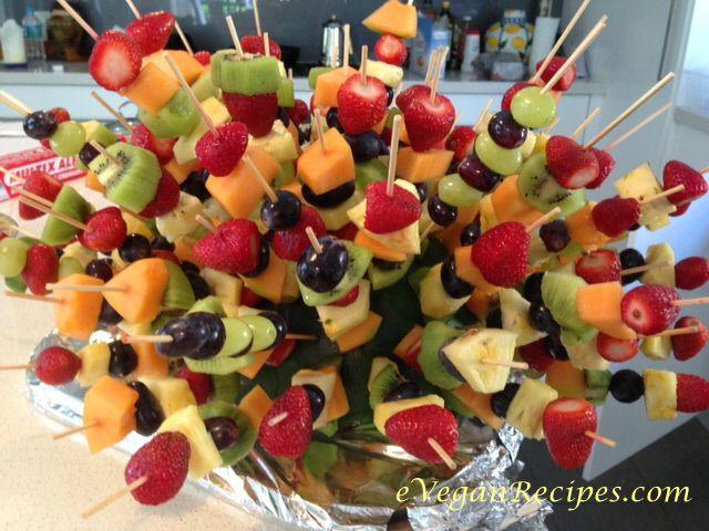Easy Vegan - A touch of fruit headgehog - easy peesy entertainer #easyvegan #headgehog