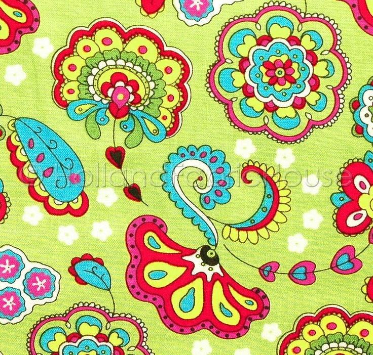 Summer Bliss in Grass Dutch design fabric by HollandFabricHouse.