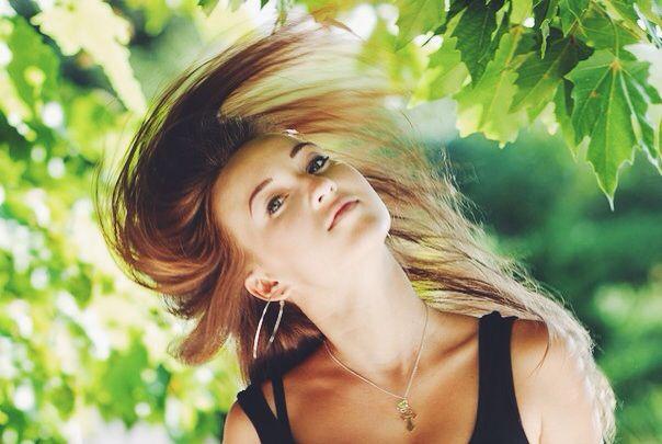 Фотосессия) летящие волосы