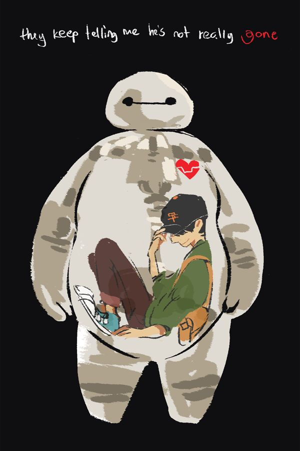BH6: Gone by ah-bao. This makes me sad for some reason. Tadashi Hamada and Baymax from big Hero 6