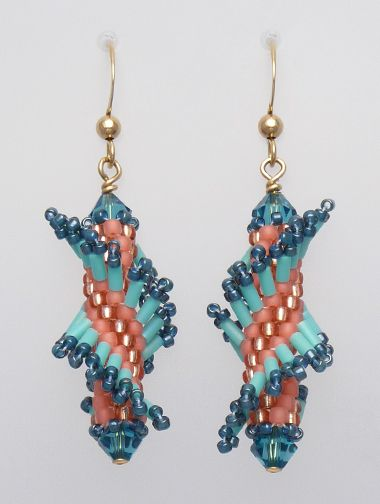peyote earrings | Tantalizing Twists - Tahitian Twist Earring Kit