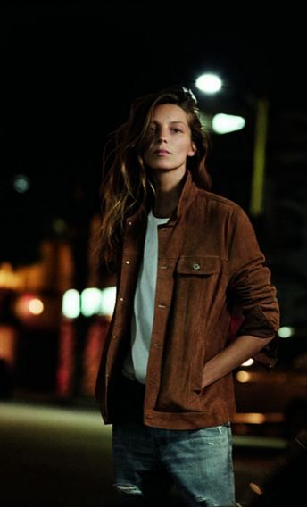 Daria Werbowy for AG Jeans Spring 2016                                                                                                                                                                                 More