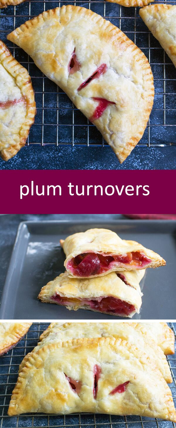 Homemade Flaky Plum Turnovers with From Scratch Filling with simple ingredients that anyone can make. An easy from-scratch turnover recipe!…