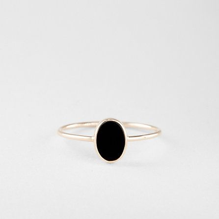 OVAL CABOCHON BLACK ONYX RING - Steven Alan
