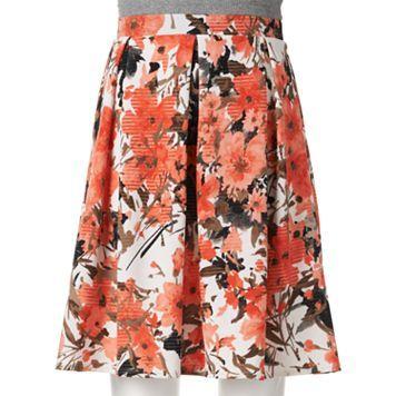 Joe B Pleated Floral Midi Skirt - Juniors $20