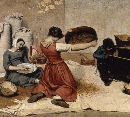 Les Cribleuses de blé, par Gustave Courbet