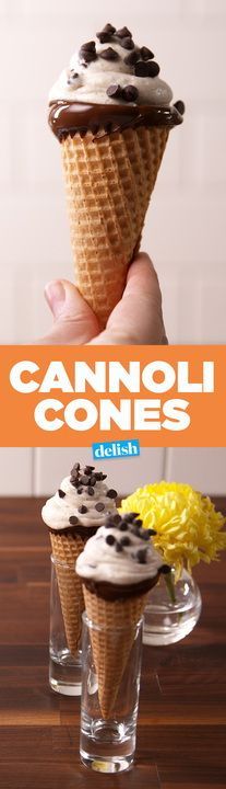 This is the most genius way to make a cannoli. Get the recipe from Delish.com.