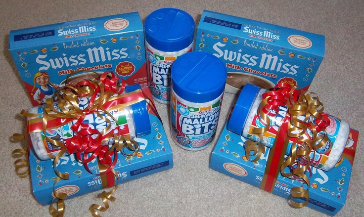 gifts for Christmas, Swiss Miss hot chocolate and mini marshmallows ...