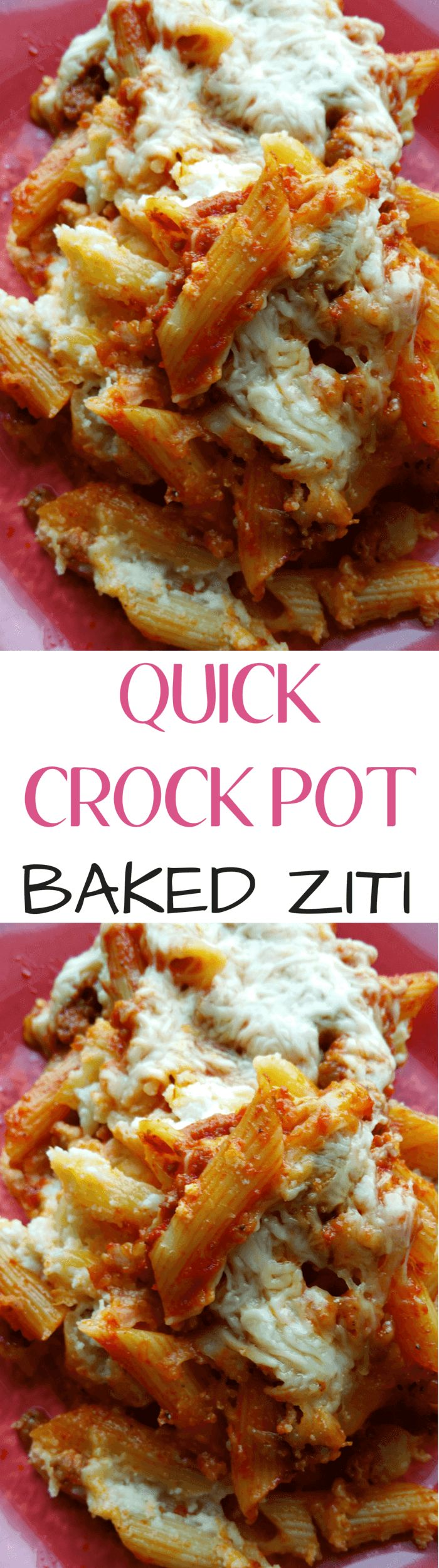 Quick 30 Minute Meals: Crock Pot Baked Ziti | Easy crock pot baked ziti is an al…