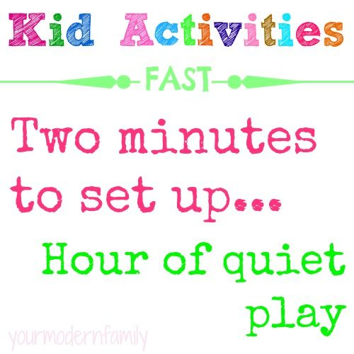 activities to keep kids entertained   takes a minute to set up but keeps them busy for hours