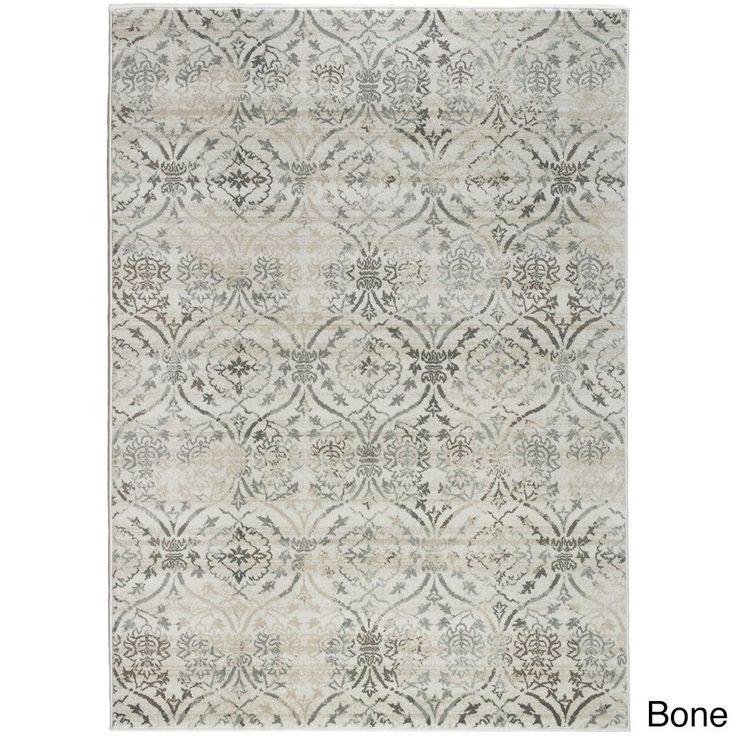 "Admire Home Living Plaza Brazil Area Rug (5'3 x 7'3) (Bone 5'3 X 7'3), Ivory, Size 5'3"" x 7'3"" (Olefin, Abstract)"