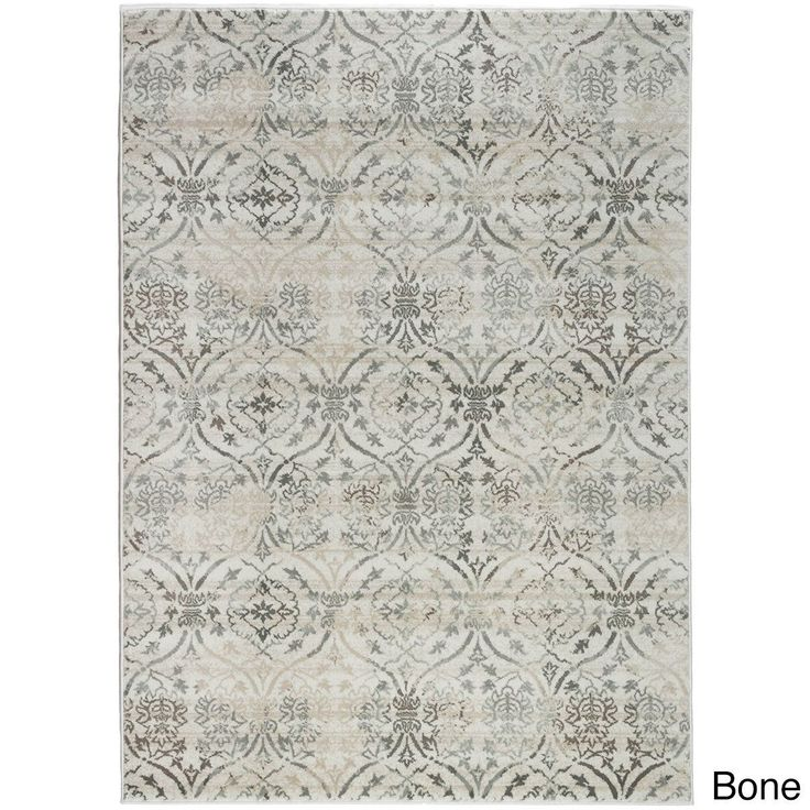 "Admire Home Living Plaza Brazil Area Rug (5'3 x 7'3) (Bone 5'3 X 7'3), Ivory, Size 5'3"" x 7'3"" (Olefin, Abstract)"