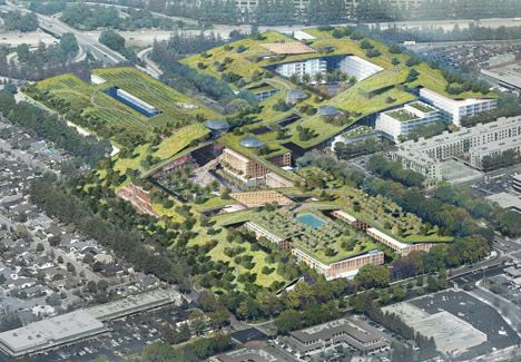 Rafael Viñoly plans world's largest green roof for Silicon Valley