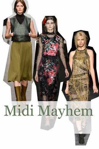 The midi length has been going strong for a few seasons, and this LFW was no different. It was all about the midi length. So, forget shaving above calf level and embrace the midi and all its potential!
