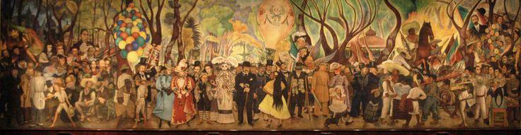 2/2 Esta pintura tiene gente famosa y eventos en la historia de México, incluyendo a su esposa, Frida Kahlo. Mi hermana gustará el Museo Mural Diego Rivera porque te gusta arte y historia.
