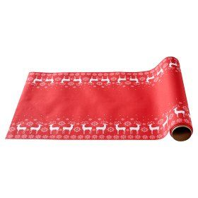 ASDA Scandi Printed Red Table Runner