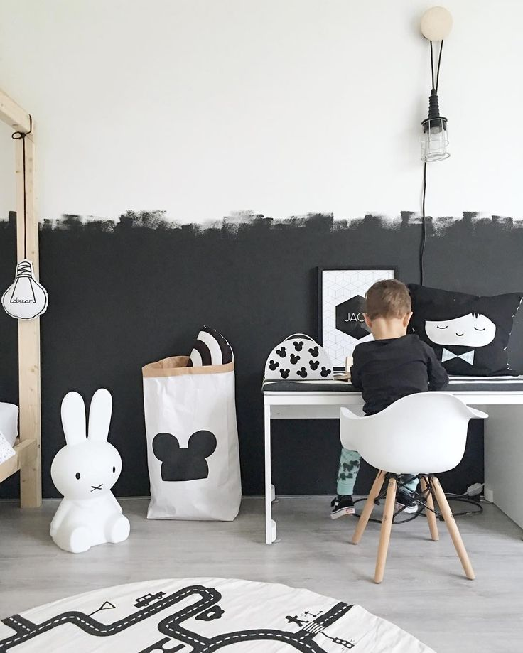 Find This Pin And More On Kids Room Ideas By Petitandsmall. Black And White  Walls