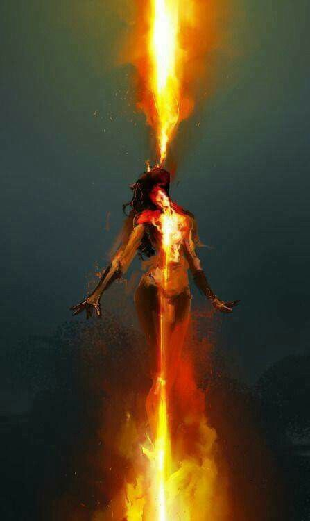 A sort of hybrid phoenix - you can't be too specific about creatures of flame.