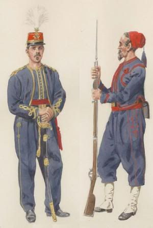 """9th New York Volunteer Infantry Regiment, also called """"New York Zouaves"""" or """"Hawkins Zouaves""""."""