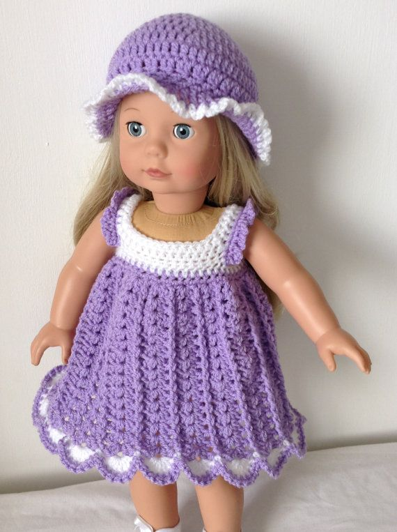 PDF Crochet pattern for 18 inch doll American Girl Doll or