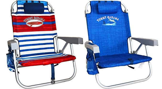 2 Tommy Bahama Backpack Cooler Chair With Storage Pouch And Towel Bar Review Cooler Chairs Storage Chair Storage Pouch