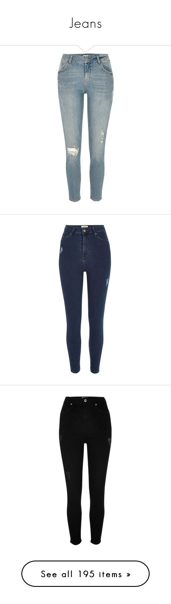 """Jeans"" by piggy-nl ❤ liked on Polyvore featuring jeans, super skinny jeans, blue skinny jeans, ripped skinny jeans, denim jeans, ripped jeans, skinny jeans, women, high waisted jeans and destroyed skinny jeans"