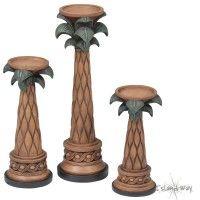 Palm Tree Candlestick Set