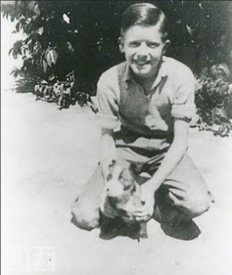 Jimmy Carter, 12 Years Old, With Dog Bozo, 1937