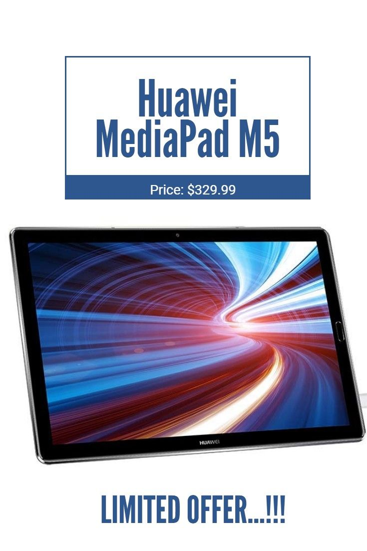 Huawei Mediapad M5 Android Tablet With 10 8 2 5d Display Octa Core Quick Charge Quad Harman Kardon Tuned Speakers Wifi Only 4gb With Images Huawei Harman Kardon Quad
