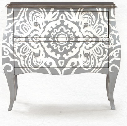 Change a bombay chest with paint - this chest is complete and from World Market