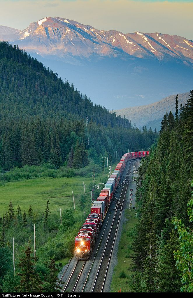 Canadian Pacific Railway at Jasper, Alberta, Canada by Tim Stevens