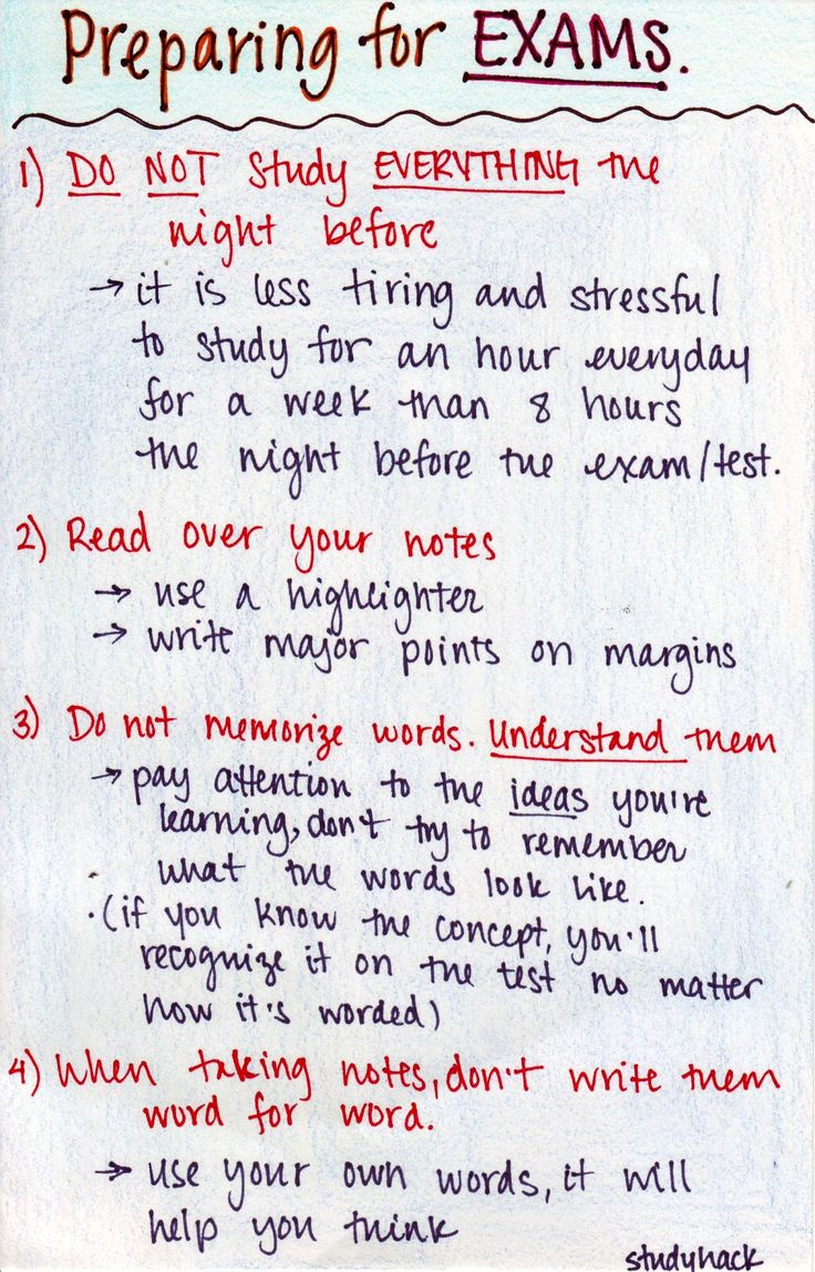 studyhack:  Some tips on studying for exams! Reviewing, taking notes and memorization
