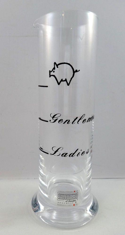 Sea Sweden Tall Shot Glass Ladies Gentlemen Pig Gag Gift Scandinavian New #Scandinavian #Tall