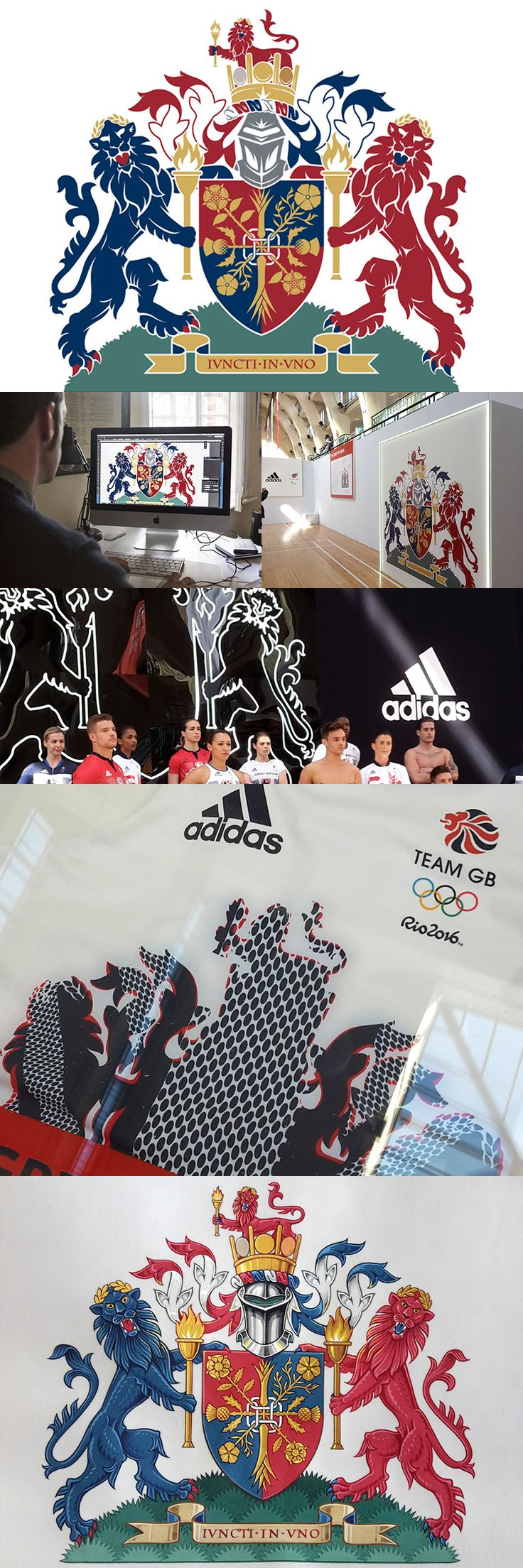 Digital heraldry design for the Team GB kit for the Rio 2016 Olympics