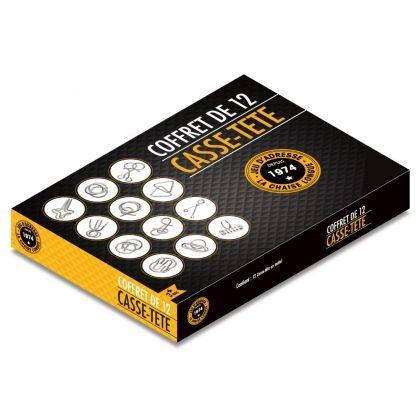 Jeux de casse tête métallique : coffret de 12 casse-tête sur Logeekdesign.com