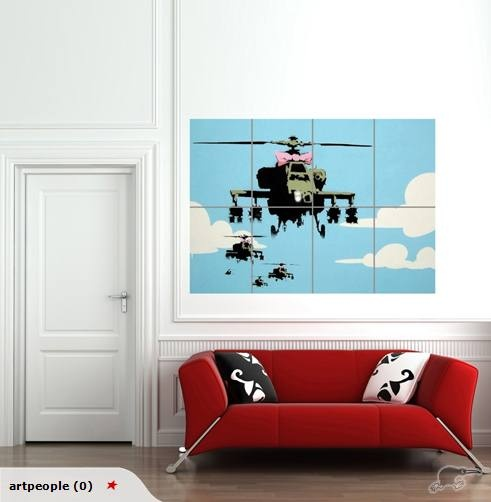 "Banksy ""happy chopper"" print"