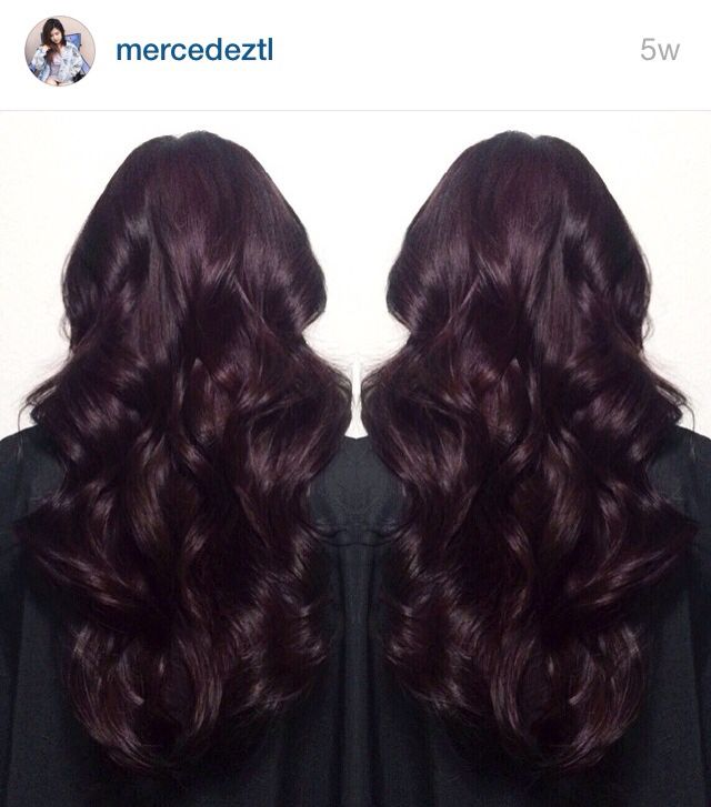 Dark burgundy / midnight ruby hair                                                                                                                                                                                  More