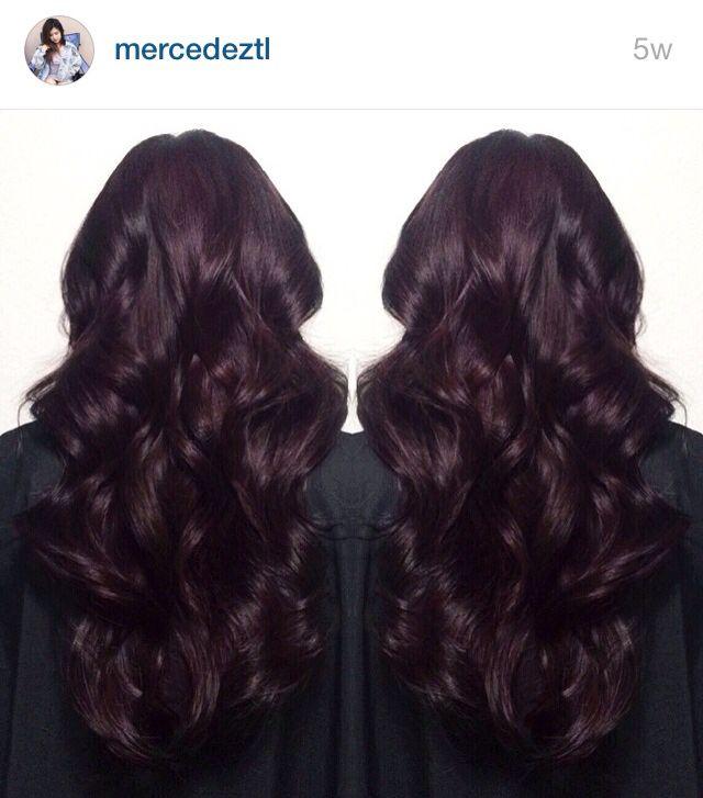 Dark burgundy / midnight ruby hair