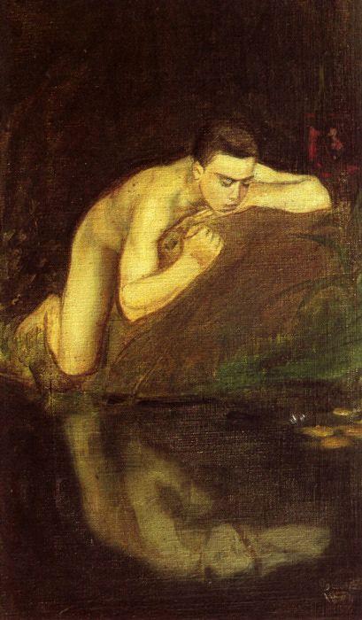 Magnus Enckell (Finnish 1870–1925) [Symbolism] Narkissos (Narcissus), 1896-1897.