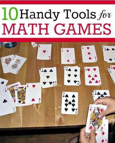 Supplies and materials to have on hand for DIY math games for kids.