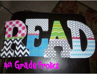 4th Grade Frolics: Monday Made It #2--Using digital paper, glue, and ribbon