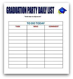 daily to do list graduation party ideas pinterest graduation