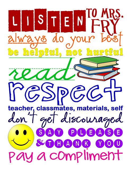 Unique Classroom rules poster