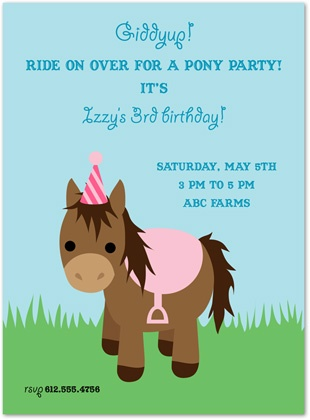 12 best pony party invitations images on pinterest | pony party, Party invitations