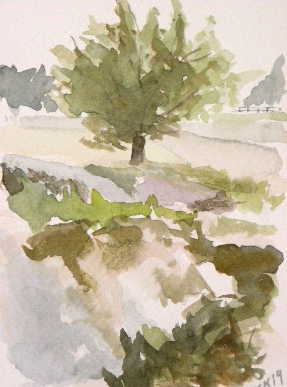 A lonely tree in Helsinki shore Finland. Painting by EarlyMorningWalk