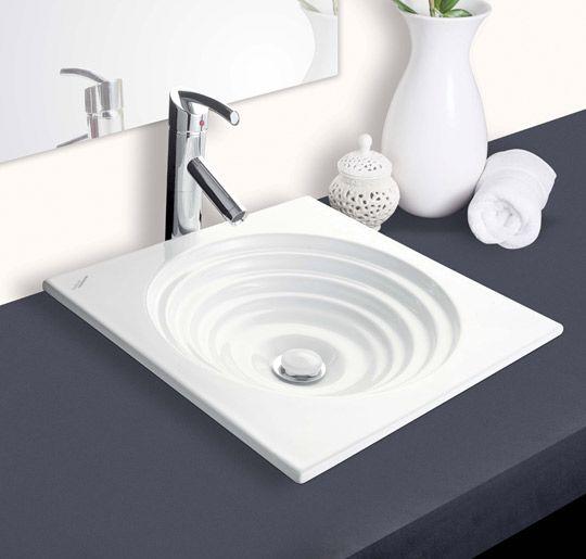 Buy Hindware Ripple Counter Top Self Rimming Basins-91080 in Washbasins through online at NirmanKart.com