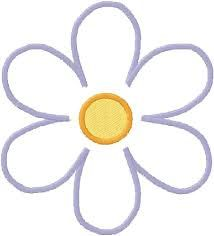 Image result for simple flower outline