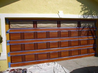 1000 ideas about painted garage doors on pinterest for How to paint a garage door to look like wood