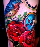 tatuaże róże 84634